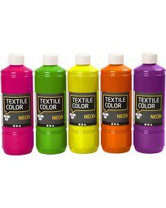 Colore per tessuti, colori asst., 5x500 ml/ 1 conf.