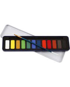 Set acquerelli, misura 12x30 mm, 12 color/ 1 conf.