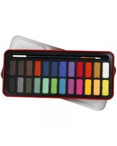Set acquerelli, misura 12x30 mm, colori asst., 24 color/ 1 conf.