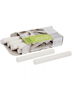 Gessetti, L: 8 cm, diam: 10 mm, bianco, 10x10 pz/ 1 conf.