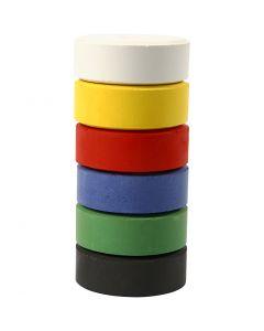 Acquerelli, H: 16 mm, diam: 44 mm, colore primario, 6 pz/ 1 conf.