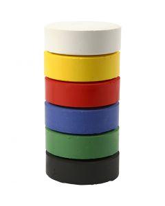 Acquerelli, H: 19 mm, diam: 57 mm, colore primario, 6 pz/ 1 conf.