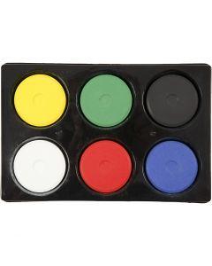Acquerelli, H: 19 mm, diam: 57 mm, colore primario, 1 set
