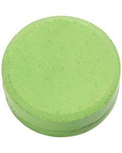 Acquerelli, H: 19 mm, diam: 57 mm, verde, 6 pz/ 1 conf.