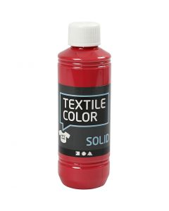 Base per tessuti, opaca, rosso, 250 ml/ 1 bott.