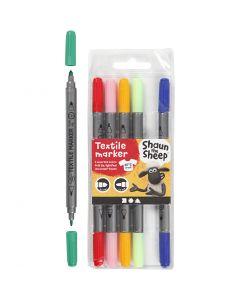 Pennareli per stoffa, ampiezza tratto 2,3+3,6 , colori asst., 6 pz/ 1 conf.