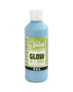 Pittura fosforescente, blu azzurro fluorescente, 250 ml/ 1 bott.
