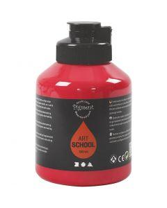 Pittura Pigment Art School, semi transparent, rosso primario, 500 ml/ 1 bott.