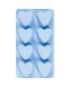 Stampo in silicone, cuori, H: 3,5 cm, L: 35 cm, L: 21 cm, misura buco 70x60 mm, 100 ml, 1 pz