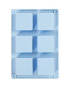 Stampo in silicone, H: 2,5 cm, L: 21,5 cm, L: 14,5 cm, misura buco 5 x 5  cm, 60 ml, 1 pz