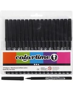Pennarelli Colortime, ampiezza tratto 2 mm, nero, 18 pz/ 1 conf.