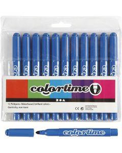 Pennarelli Colortime, ampiezza tratto 5 mm, Azure, 12 pz/ 1 conf.
