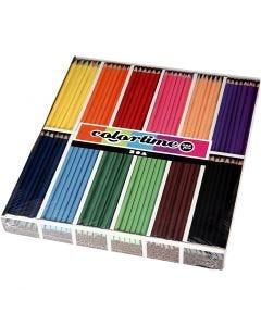 Matite colorate Colortime, L: 17,45 cm, mina 3 mm, colori asst., 12x12 pz/ 1 conf.