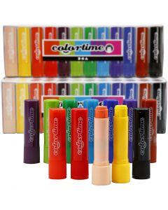 Soft Color Stick, L: 8 cm, colori asst., 120 pz/ 1 conf., 6,5 g