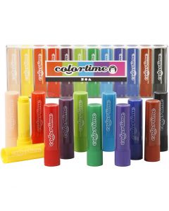 Soft Color Stick, L: 8 cm, colori asst., 12 pz/ 1 conf.