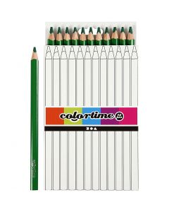 Matite colorate Colourtime, L: 17,45 cm, mina 5 mm, JUMBO, verde, 12 pz/ 1 conf.