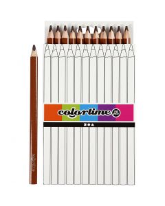Matite colorate Colourtime, L: 17,45 cm, mina 5 mm, JUMBO, marrone, 12 pz/ 1 conf.