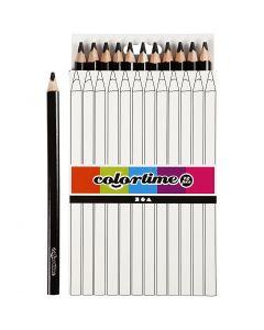 Matite colorate Colourtime, L: 17,45 cm, mina 5 mm, JUMBO, nero, 12 pz/ 1 conf.