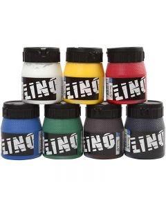 Inchiostro per stampa a blocchi, colori asst., 7x250 ml/ 1 conf.