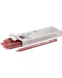 Super Ferby 1 matite colorate, L: 18 cm, mina 6.25 mm, rosso chiaro, 12 pz/ 1 conf.