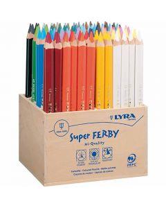 Super Ferby 1 matite colorate, L: 18 cm, mina 6,25 mm, colori asst., 96 pz/ 1 conf.