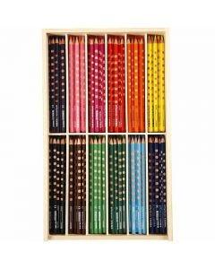 Matite colorate Groove Slim, L: 18 cm, mina 3,3 mm, colori asst., 144 pz/ 1 conf.