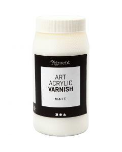 Vernice protettiva acrilica, opaco, trasparente opaco, bianco, 500 ml/ 1 vasch.