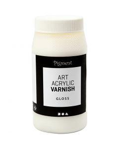 Vernice protettiva acrilica, opaco, bianco, lucido trasparente, 500 ml/ 1 vasch.