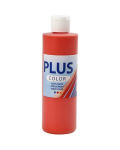 Plus Color Craft Paint, rosso brillante, 250 ml/ 1 bott.
