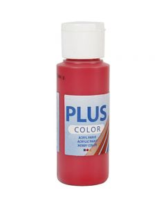 Plus Color Craft Paint, rosso lampone, 60 ml/ 1 bott.
