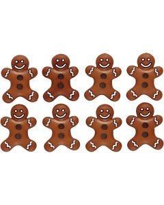 Bottoni novità, biscottini glassati, H: 23 mm, L: 17 mm, 8 pz/ 1 conf.