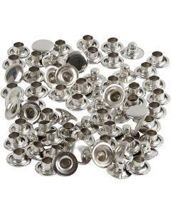 Rivetti, diam: 7 mm, argento, 50 pz/ 1 conf.