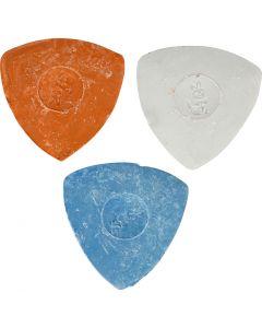 Gesso da sarto, diam: 5,5 cm, blu, rosso, bianco, 3 pz/ 1 conf.