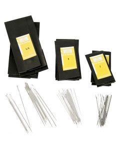 Aghi da rammendo - assortimento, dim. 3/0+5+7, L: 48-65 mm, 150 pz/ 1 conf.