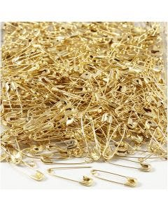 Spille da balia, L: 22 mm, spess. 0,6 mm, oro, 500 pz/ 1 conf.