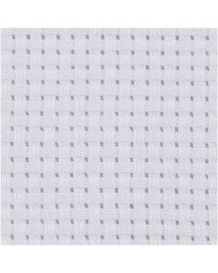 Tela Aida, misura 50x50 cm, 35 quadrati per 10 cm , bianco, 1 pz