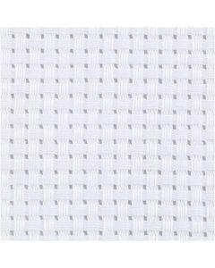 Stoffa Aida, misura 50x50 cm, 35 quadrati per 10 cm , bianco, 1 pz
