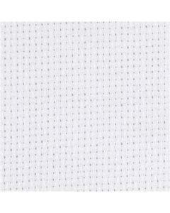 Stoffa Aida, misura 50x50 cm, 70 quadrati per 10 cm , bianco, 1 pz