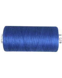 Filo da cucito, blu medio, 1000 m/ 1 rot.