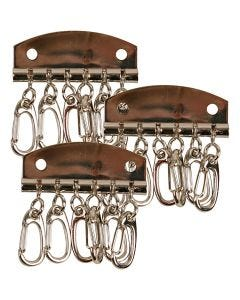 Piatto per chiave in metallo, L: 4,5 cm, 15 pz/ 1 conf.