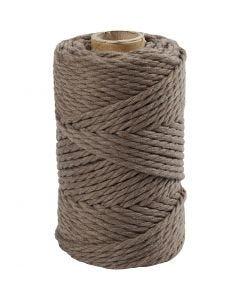 Corda per Macramé, L: 55 m, diam: 4 mm, marrone chiaro, 330 g/ 1 rot.