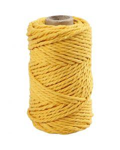Corda per Macramé, L: 55 m, diam: 4 mm, giallo, 330 g/ 1 rot.
