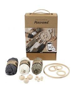 Kit didattico Macramé, diam: 2 mm, 1 set