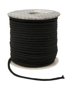 Corda in poliestere, spess. 4 mm, nero, 40 m/ 1 rot.