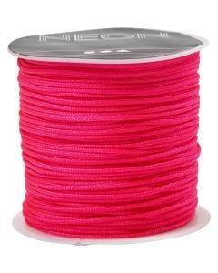 Corda di nylon, spess. 1 mm, neon pink, 28 m/ 1 rot.
