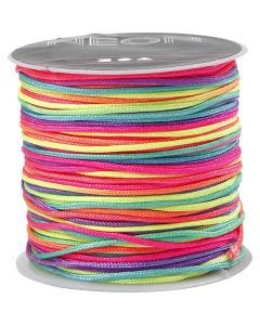 Corda di nylon, spess. 1 mm, lilla neon, 28 m/ 1 rot.