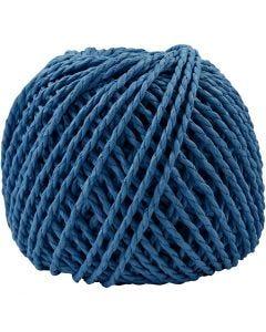 Filo di carta, spess. 2,5-3 mm, blu scuro, 40 m/ 1 gom.