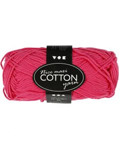 Filo di cotone, dim. 8/8, L: 80-85 m, misura maxi , rosa, 50 g/ 1 gom.