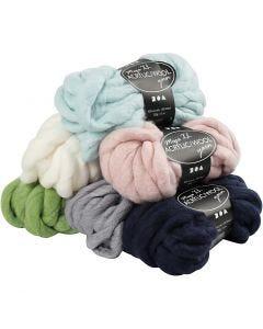 Filato spesso Chunky in lana/acrilico, L: 15 m, misura mega , 6x300 g/ 1 conf.