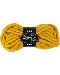 Filato spesso Chunky in acrilico, L: 17 m, misura manga , giallo scuro, 200 g/ 1 gom.